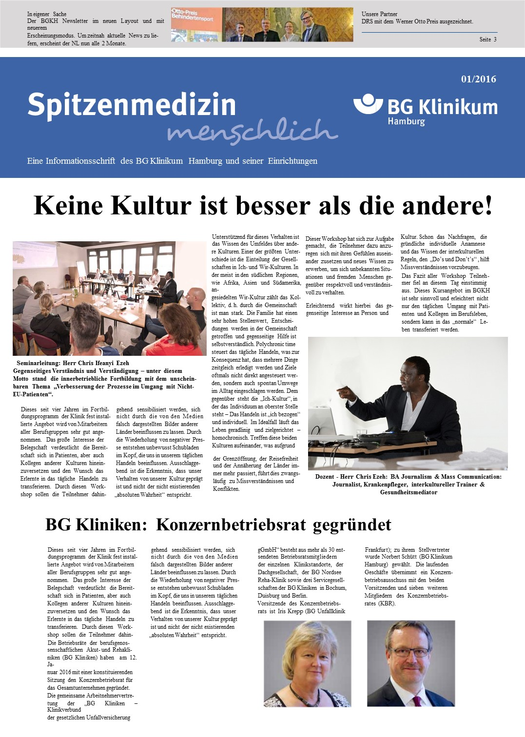 Publication in (German) about our Intercultural training